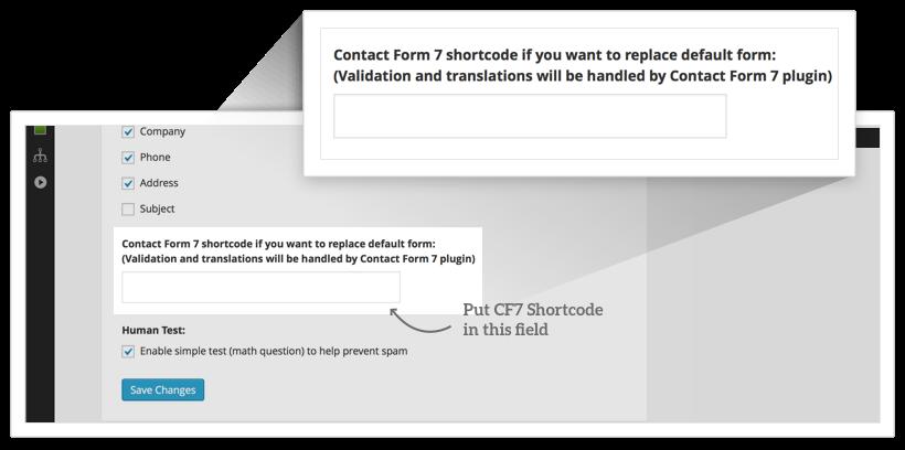 CF7 Shortcode Field